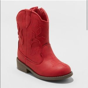 Cat & Jack Red Cowboy Style Boots